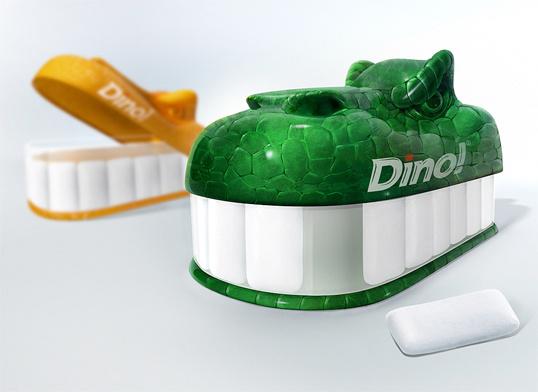 Dino! Gum #packaging #design #gum #dino #dinosaur #package