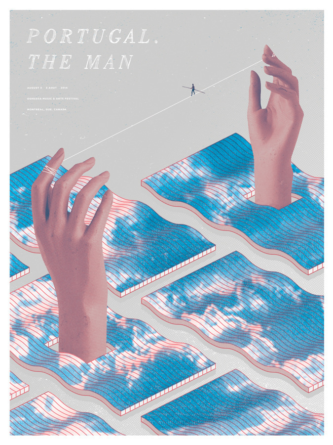Portugal. The Man / Montreal, Quebec 2014 - SCOTT CAMPBELL #sky #tightrope #modern #hands