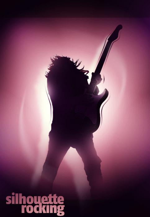 Creating a Rocking Silhouette in Photoshop | Psdtuts+ #rockstar #guitar #rock #back #silhouette #lighting