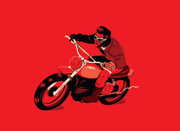 benmounsey:Cafe Racer.Cafe Racer #illustration #motorbike