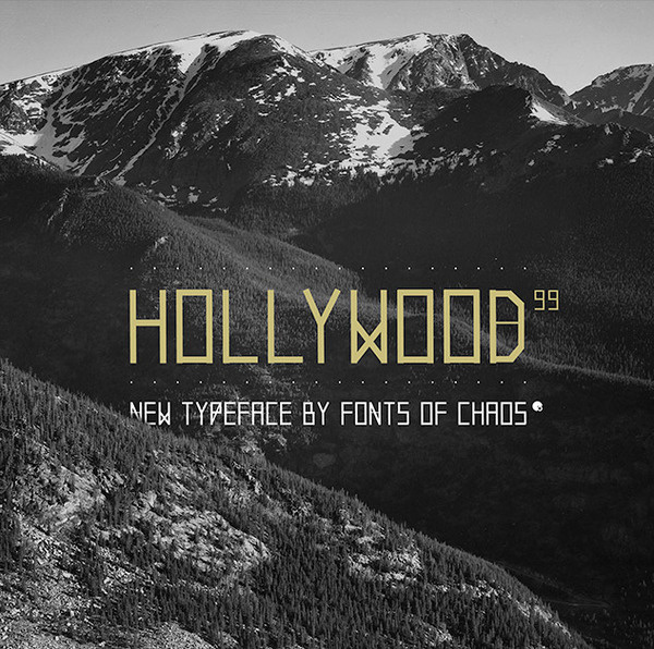 FONTS of CHAOS Hollywood99 font #fonts #font #typographism #typo #typography