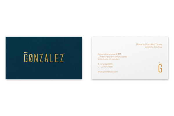 Gonzalez Business Cards #card #identity #business