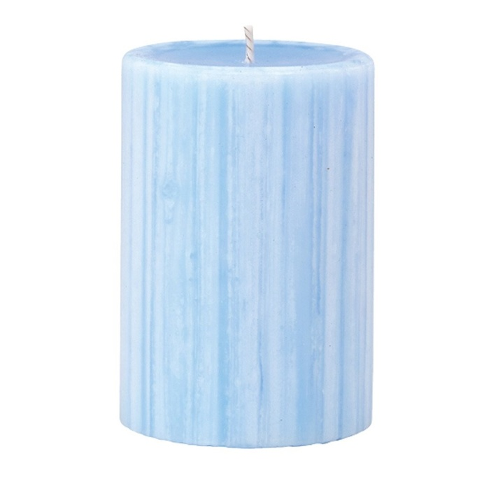 Marbled Pillar Lotus Flower & Topaz Water Scented Candle, 10 x 7 cm
