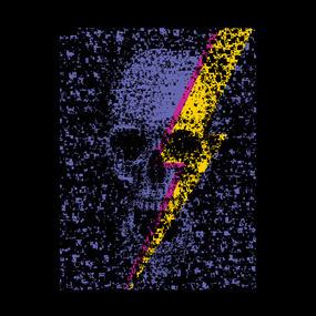 Skull energy #skull #thunder #art #8bit