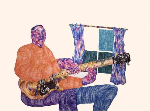 Foragepress.com   Andrew Khosravani #illustration #color #blues #brush