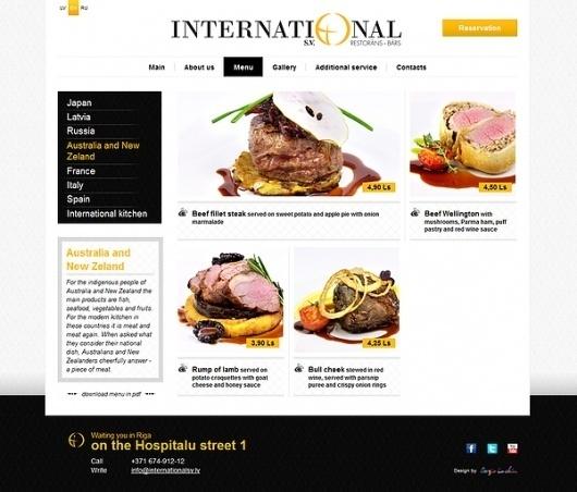 International restaurant on the Behance Network #international #food #restaurant #website #web