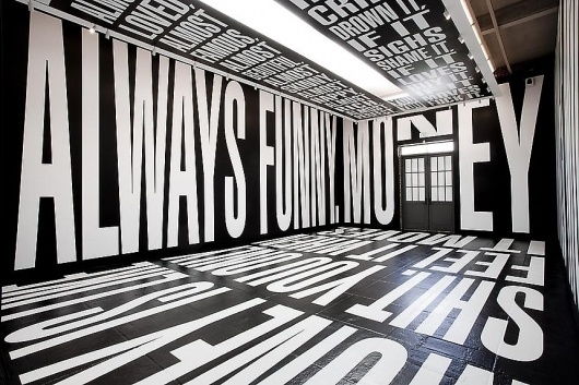 L & M Arts - Barbara Kruger #exhibition #type #interior #typography