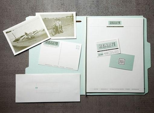 design work life » Arts & Recreation: Henry and Co. #postcards #folder #vintage #branding