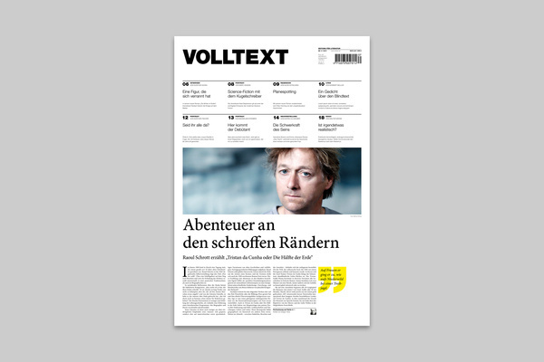 VOLLTEXT - Zeitung für Literatur on the Behance Network #magazine