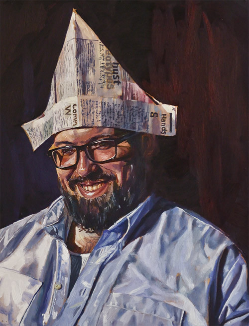 Vancouver based artist painter Andrew Young #young #portrait #painting #andrew