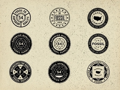 Dribbble - Vintage Union Inspired Seals - Fossil by Jonathan Schubert