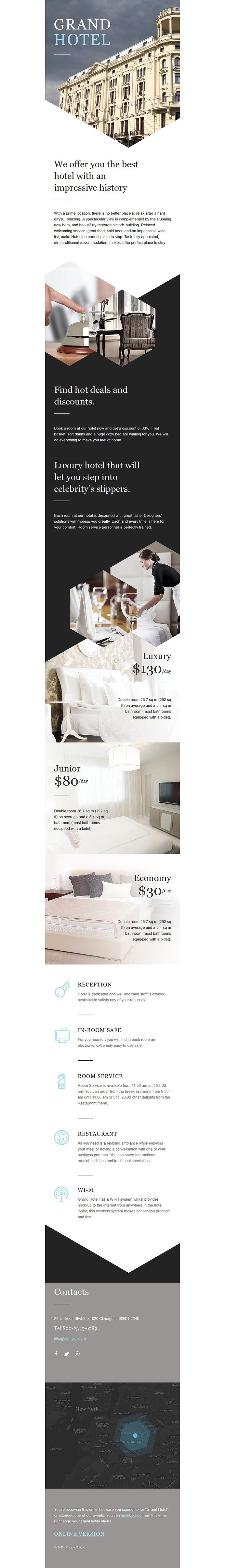 Grand Hotel Responsive Newsletter Template