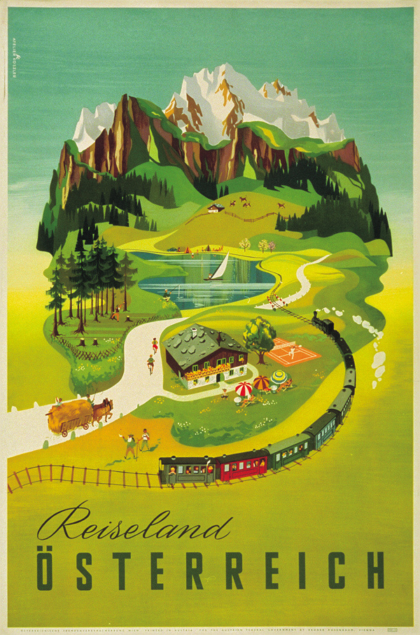 Welcome to Austria vintage travel posters #austria #travel #vintage #poster #mountains