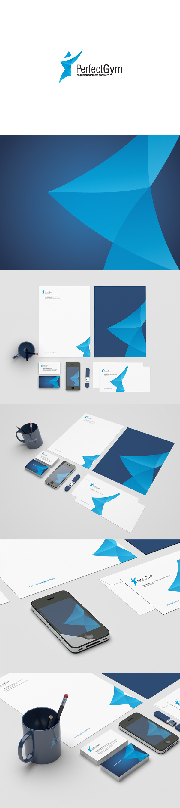 Perfect Gym #prints #branding #gym #identity #for #perfect #logo #management #so #club