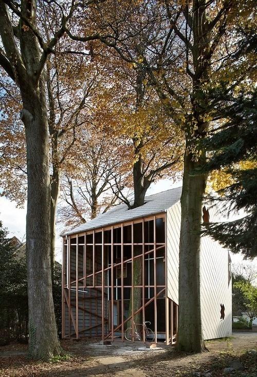 CJWHO ™ (House BERNHEIMBEUK by Architecten DVVT Wooden...) #creative #tree #design #wood #architecture #art