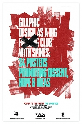 Nicholas Burroughs : POWER TO THE POSTER #promotional #design #poster