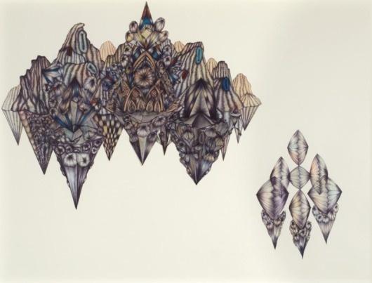 Synaptic Stimuli #geometric #landscape #floating #paint #drawn
