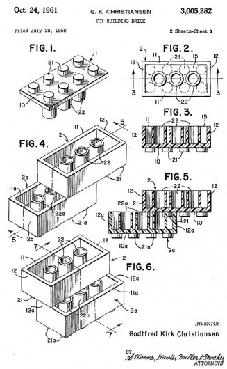 Original Lego Patent » Design You Trust – Design and Beyond! #lego