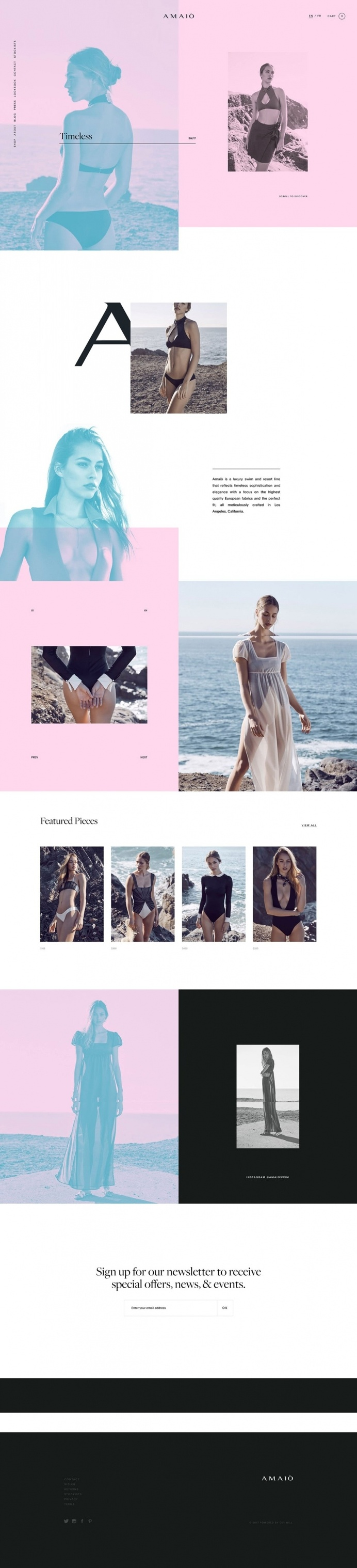 AMAIO - Mindsparkle Mag - AMAIÃ' is a luxury swim and resort label reflecting a sense of iconic sophistication and elegance. Their website i
