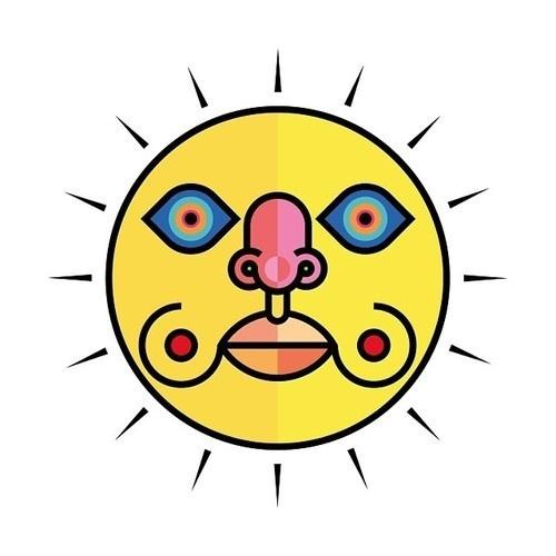 🌞 SUN by Sergi Delgado #sun #sunshine #geometric #sintetic #simple #face #star #logo #god