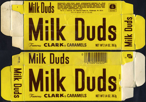 Vintage Candy Packaging #milk #type #vintage #duds