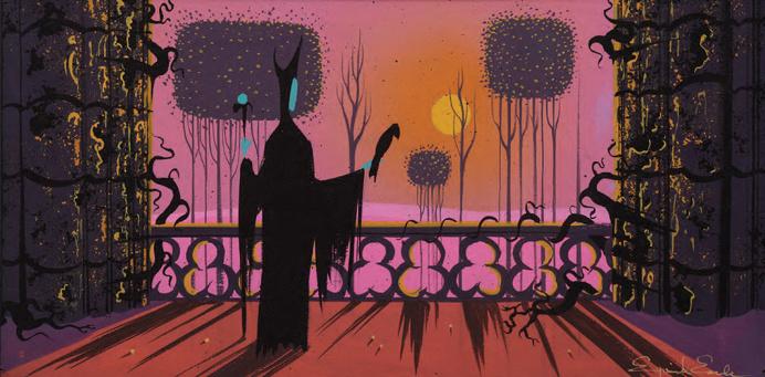 Eyvind Earle concept art for Walt Disney's Sleeping Beauty