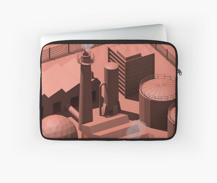 Low Poly Industry by Rickard Arvius #3d #cinema4d #c4d #visualart #digitalart #cgi #fashion #rickardarvius #laptopsleeve