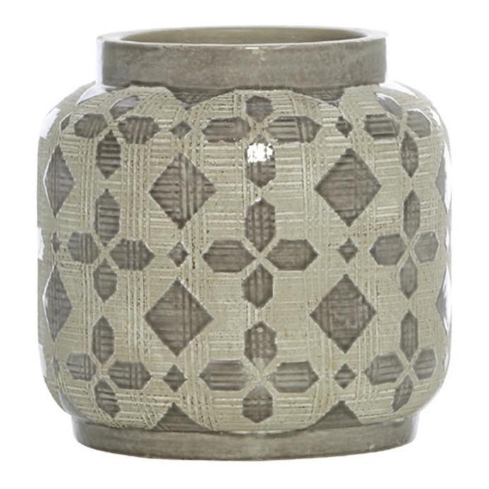 Scanlon Terracotta Grey Urn Vase, 20 cm