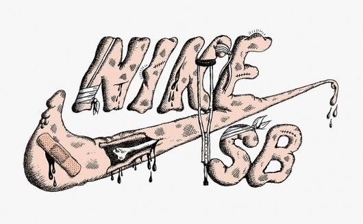 Mr L'Agent - DIY #sb #type #illustration #nike #sneakers #custom #diy