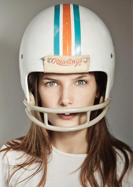 Miami Girl #girl #orange #photography #portrait #football #teal #miami