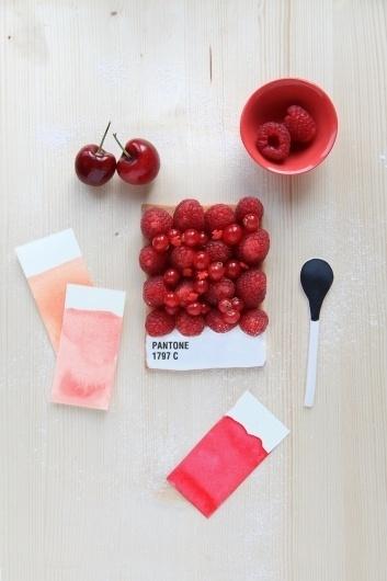 Delicious Pantone Swatch Tarts #starts #food #swatch #handmade #pantone