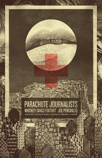 The Collective Loop: Parachute Journalist Posters #design #journalist #poster #art #parachute #band