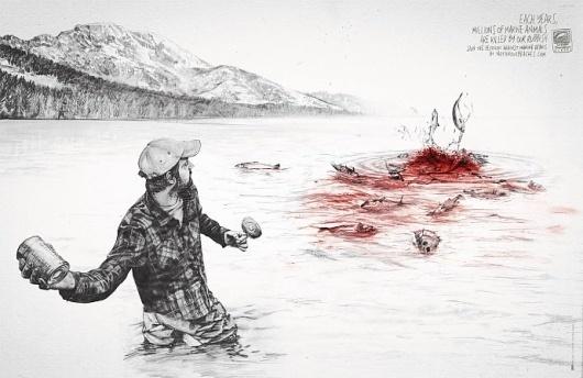 Surfrider Foundation – La polution marine tue | Voyons Voir - J'aime le frivole #design #graphic