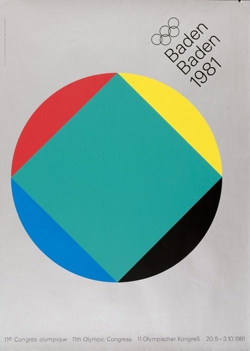 Anton Stankowski — 11th Olympic Congress (1981) #grid #1980s #poster #olympics #grey