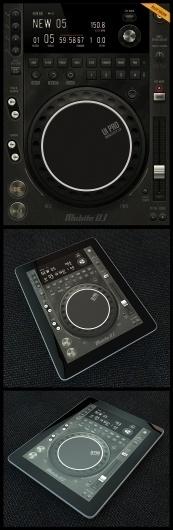 Tablet/Phone User Interface Professional Set V. 5 Mobile DJ - Mobile Interface - Creattica #diegomonzon #player #texture #leather #music #metal