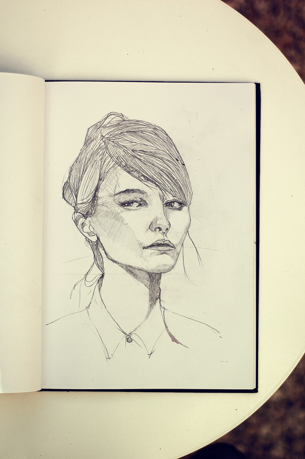 _DSC4121small #girl #faces #women #portrait #drawing