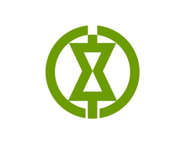 Kanji town logo, Japan #logo
