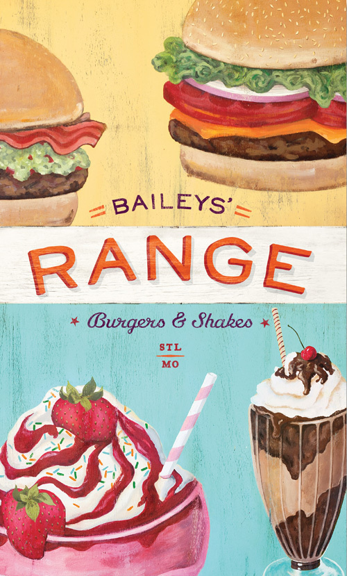 Art of the Menu: Bailey's Range #illustration #vintage