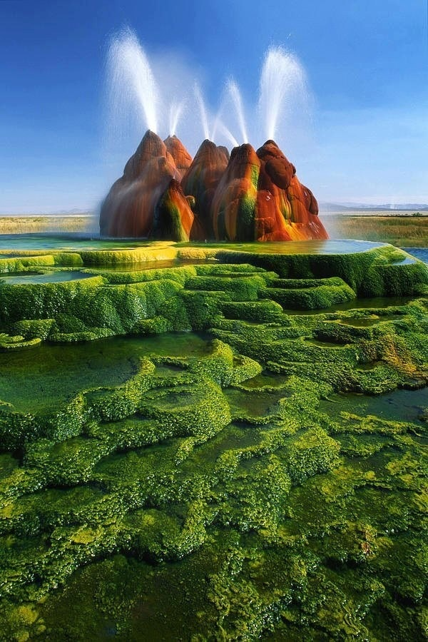 CJWHO ™ (Stunning Shots of Fly Geyser, Nevada's Hidden...) #amazing #geyser #design #landscape #colors #photography #nevada #nature
