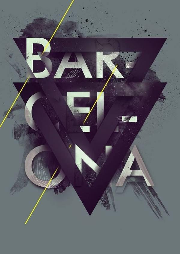 Barcelona #tape #illustration #giga #kobidze #typography