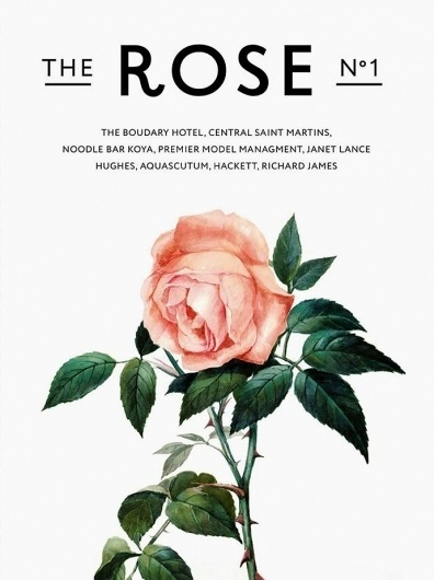 Журнал The Rose от UK Style, Buro 24/7 #rose #floral #poster