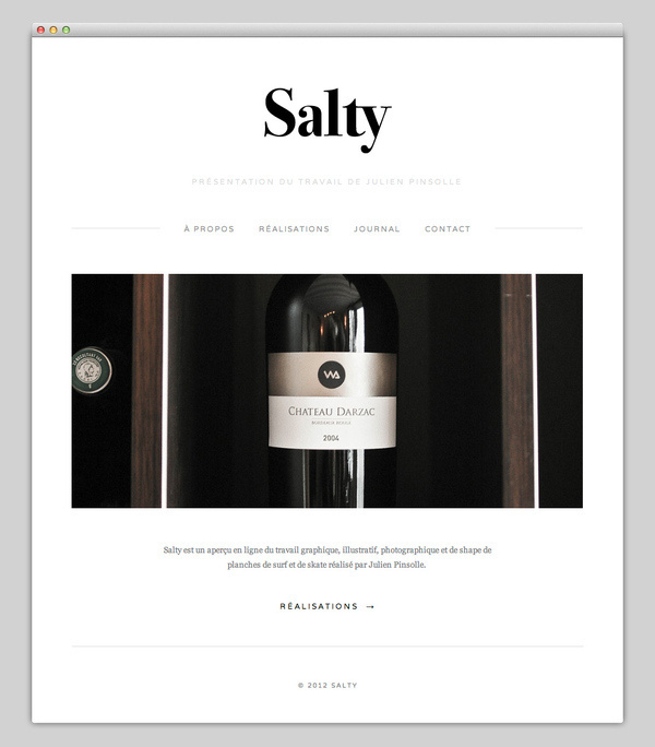 Salty #website #layout #design #web