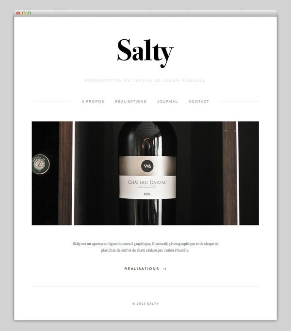 Salty #website #layout #design #web