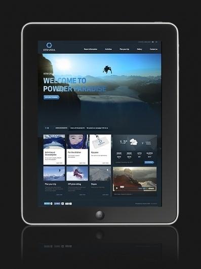 Stranda Ski Resort - Visual identity on the Behance Network #website #layout