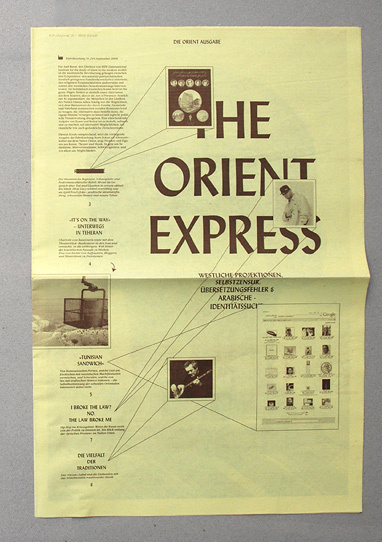 mindthat: Glashaus: The Orient Express #print #newsletter #typography