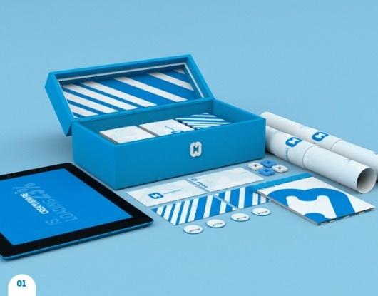 CREATIVEHYPE™ on the Behance Network #design #graphic #logo #identity #blue