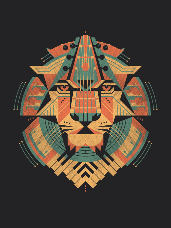 Leo Art Print #print #lion #head #illustration #art