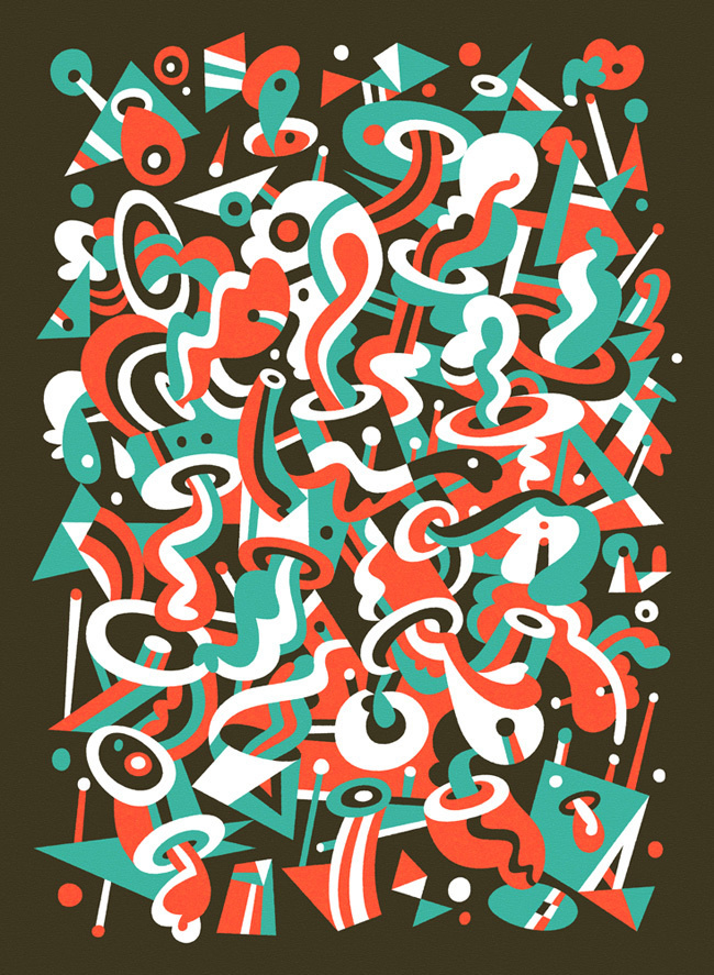 Schema 8 - Matt Lyon #abstract #vector #shape #art