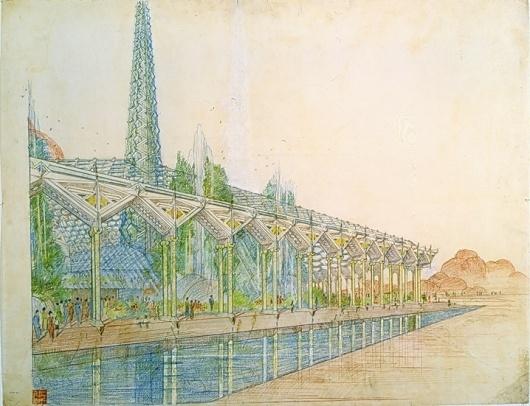 "Frank Lloyd Wright - ""Oasis"" (Arizona State Capitol Concept) #wright #arizona #architecture #frank #lloyd"