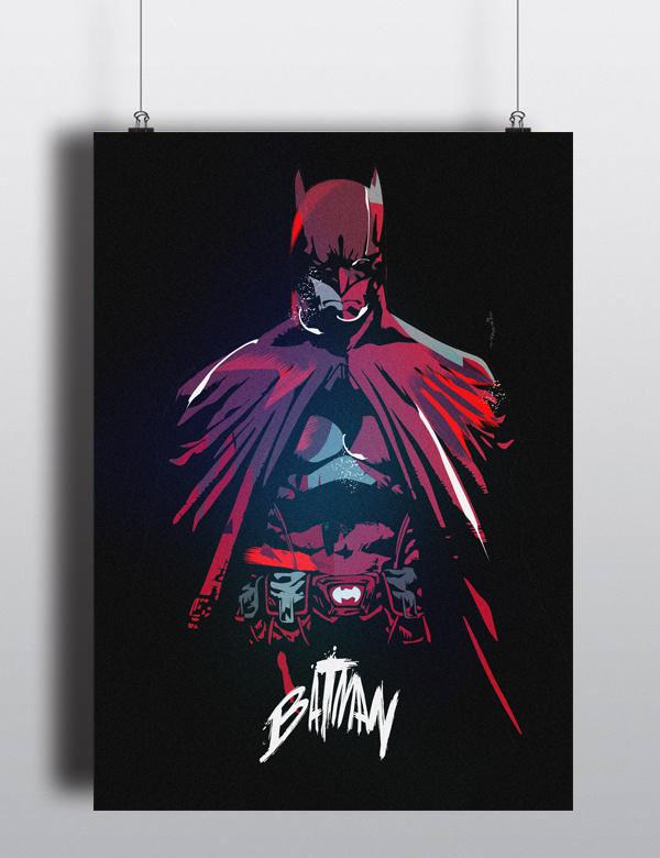 Batman - Artwork by Marco Grünewälder #dc #super #batman #artwork #hero #illustration #comics